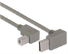 Right Angle USB cable, Up Angle A Male/ Down Angle B Male, 0.3m -- CA90UA-90DB-03M -- View Larger Image