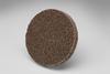 3M Scotch-Brite XL-UR Unitized Aluminum Oxide Medium Deburring Wheel - Medium Grade - Quick Change Attachment - 2 in Diameter - 17190 -- 048011-17190 - Image