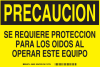 Brady B-401 Polystyrene Rectangle Yellow Machine & Equipment Sign - 10 in Width x 7 in Height - Language Spanish - 38822 -- 754473-38822