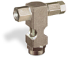 "(Formerly B1630-1X01), Inverted Angle Small Sight Feed Valve, 1/8"" Female NPT Inlet, 1/8"" Female NPT Outlet, Tamperproof -- B1628-311B1TW -- View Larger Image"