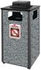 Aspen Stone Panel Hinged Top Waste Receptacle -- GPR449-GRAY