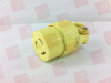 LEGRAND L520-C-YEL ( CONNECTOR 20AMP 125V 3-WIRE YELLOW ) -Image