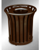 Americana Open Top Outdoor Metal Trash Can -- GPR410-BRONZE