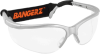 Bangerz HS-4500 Silver Frame Clear Lens Eyeguard with Pouch -- HS4500SC