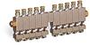 "Multiple Sight Feed Valve, 10 Valves, 1/8"" Female NPT Inlet, (10) 1/8"" Female NPT Outlets -- YB4689-10 -Image"