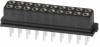 10+10 Pos. Female DIL Vertical Throughboard Conn. for Latches -- M80-8502042 -- View Larger Image