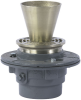 Floor Drain with Round Funnel -- FD-100-EF -- View Larger Image