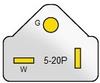 Nema 5-20P Straight Plug -- WS - 001I-2