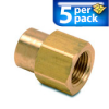 Connector Air Fitting: female, brass, for 3/8in NPT to 1/4in NPT, 5/pk -- BFFC-38N-14N -- View Larger Image