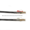 10FT Black CAT6 250MHz Patch Cable F/UTP CM Locking Snagless -- C6PC70S-BK-10 - Image