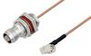 TNC Female Bulkhead to SMA Male Right Angle Cable 12 Inch Length Using RG178 Coax -- PE3W05425-12 -Image
