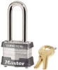 MASTER LOCK NO. 3 STEEL LAMINATED PADLOCK 2 IN. LONG SHACKLE  KEYED ALIKE NO. 0464 -- IBI714840