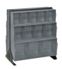 Bins & Systems - Clear Tip Out Bins (QTB Series) - Floor Stands - QFS224-24