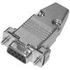 9Pin Dsub Solder Connector Female W/Hood -- 409709FSH - Image