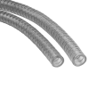 Vacuum and Pressure Tubing Made of Highly Flexible Transparent PVC, Reinforced with Wire Spiral