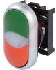 PUSHBUTTON, DOUBLE PUSHBUTTON OPERATOR WITH CENTER LIGHT, MOMENTARY, GREEN TOP C -- 70057751