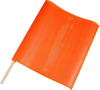Brady Orange Roll-up Flags - 24 in Length - 13377 -- 754476-13377