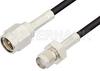 SMA Male to SMA Female Cable 6 Inch Length Using RG174 Coax -- PE3715-6 -Image