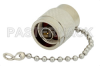 2 Watt RF Load With Chain Up to 18 GHz With N Male Input Nickel Plated Brass -- PE6075 -Image