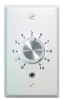 Amplified speaker volume control - mono (brushed steel faceplate) -- AMP-MOVC-BS