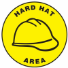 Hard Hat Area Slip-Gard Floor Sign -- SGN835