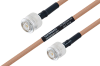 MIL-DTL-17 TNC Male to TNC Male Cable 24 Inch Length Using M17/128-RG400 Coax -- PE3M0084-24 -Image
