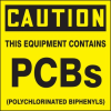 Caution This Equipment Contains PCBs Label -- SGN681