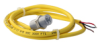 103SR Series Unipolar Hall-Effect Digital Position Sensor with 15/32-32 UNS-2A cylindrical aluminum threaded housing; two hex nuts; 1000 mm [40.0 in] 22-gauge insulated conductor cables -- 103SR13A-11