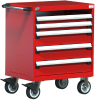 Heavy-Duty Mobile Cabinet, with Partitions -- R5BDG-3015 -Image