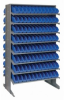 Bins & Systems - 4'' Shelf Bins (QSB Series) - Sloped Shelving Units - Double Sided Pick Racks - QPRD-100 - Image