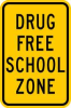 School Zone Sign,18 x 12In,BK/WHT,Text -- 6GMN4