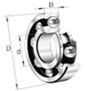 6000 Series Deep Groove Radial Ball Bearings -- 6008