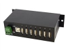 StarTech.com Mountable Rugged Industrial 7 Port USB Hub - hub - 7 ports - DIN rail mountable -- ST7200USBM
