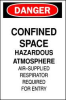 Danger Sign,20 x 14In,R and BK/WHT,ENG -- 1D669