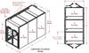 3-Unit Tunnel Standard Profile Double Door Air Showers -- CAP701KD-ST3-73180