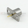 SMP Male (Plug) Smooth Bore Connector Pin Terminal 2 Hole Flange (Panel Mount), Solder