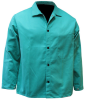 Chicago Protective Apparel Green Large FR-7A Cotton/Proban Welding & Heat-Resistant Coat - 30 in Length - 600-GR LG -- 600-GR LG - Image