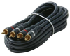 100ft 2 RCA to 2 RCA Audio Gold Plated Cable - Red and White -- 254-240BL - Image