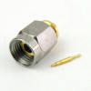 2.4mm Male (Plug) Connector For .047 SR Cable, Solder -- SMC24-047M