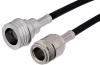 N Female to QN Male Cable 12 Inch Length Using PE-C195 Coax -- PE38457-12 -Image