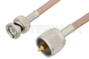 UHF Male to BNC Male Cable 48 Inch Length Using RG400 Coax -- PE3231-48 -Image