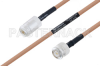 MIL-DTL-17 N Female to TNC Male Cable 12 Inch Length Using M17/128-RG400 Coax -- PE3M0075-12 -Image