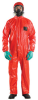 Ansell Microchem AlphaTec 68-CFR Red Small PVC/FR Treated Fabric Disposable Flame-Retardant Coverall - 076490-06066 -- 076490-06066