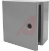 Enclosure, Panel; Steel; 10 in.; 4 in.;10 in.; Wall Mount; Gray; Type 1 -- 70164426 - Image