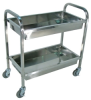 2 Tub Stainless Steel Carts -- 11458 - Image