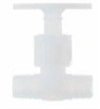 Chemically Inert Panel-Mount Needle Valve, 1/2