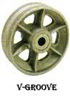 GR Series V-Groove Wheels -- gr-415-rb