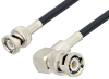 BNC Male to BNC Male Right Angle Cable 36 Inch Length Using LMR-195 Coax -- PE3W01992-36 -Image
