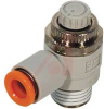 Speed Control, Flow Control, elbow, meter-out, 3/8NPT port, for 3/8 tube,sealant -- 70071626