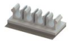 Fiber Clips - 4 Slot, 3mm, Adhesive Mount -- OFHB3-4-19A-RT -- View Larger Image